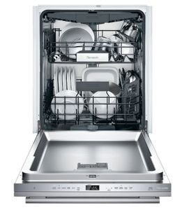 """DWHD650WFM Thermador 24"""" Masterpiece Emerald 6 Program Dishwasher with Chef's Tool Drawer and Extra Dry Option - Stainless Steel with Masterpiece Series Handle"""