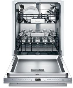"DWHD771WFM Thermador 24"" Masterpiece Glass Care Center 7 Program Dishwasher with Star Speed Wash Cycle and Large Glassware Capacity - Stainless Steel with Masterpiece Series Handle"