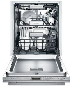 """DWHD870WPR Thermador 24"""" Sapphire 8 Program Dishwasher with StarDry and Star Speed - Custom Panel"""