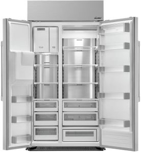 "DYF42SBIWR Dacor 42"" Professional Built In Side by Side Refrigerator - Stainless Steel"
