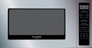 """F4MWO24S1 Fulgor Milano 24"""" Countertop Microwave with 11 Power Levels and Electronic Touch Controls - Stainless Steel"""