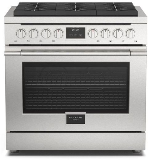 "F4PGR366S1 Fulgor Milano 36"" 400 Series Accento Professional All Gas Range with 6 Sealed Burners - Stainless Steel"