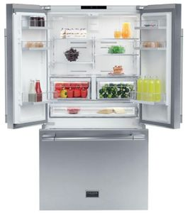 """F6FBM36S1 Fulgor Milano 36"""" 600 Series Professional Counter Depth Free Standing French Door Refrigerator - Stainless Steel"""
