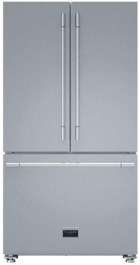 "F6FBM36S1 Fulgor Milano 36"" 600 Series Professional Counter Depth Free Standing French Door Refrigerator - Stainless Steel"