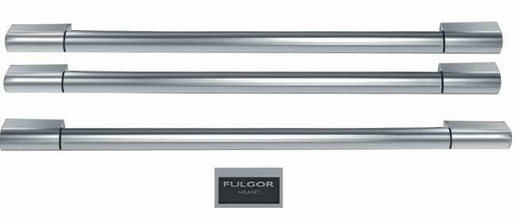 F6HK36FFBS Fulgor Milano Sofia Handles and Badge Kit - Stainless Steel