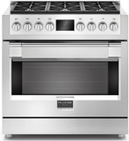 "F6PGR366S2 Fulgor Milano 36"" Professional Gas Range with Nova Broiling System and Dual Crescendo Burner - Stainless Steel"