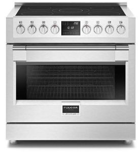 """F6PIR365S1 36"""" Fulgor Milano 600 Series Sofia Professional Electric Freestanding Induction Range with 6 Cooking Zones - Stainless Steel"""
