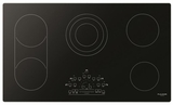 "F6RT36S2 Fulgor Milano 36"" Radiant Electric Cooktop with Touch Control and Brushed Aluminum Trim - Black"