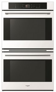 """F7DP30W1 Fulgor 30"""" 4.4 cu. ft.  Electric Double Wall Oven with True European Convection and Automatic Fast Preheat - White"""