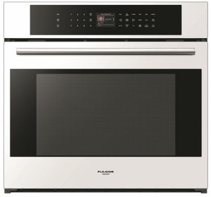 "F7SP30W1 Fulgor 30"" 700 Series Built-In Single Electric Touch Control Wall Oven with Dual True Convection and Telescopic Rack - White"