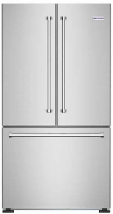 "FBFD36 BlueStar 36"" 19.9 Cu. Ft. Freestanding Counter-Depth French Door Refrigerator with LED lighting & Digital display and Automatic Ice Maker - Stainless Steel"