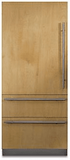 "FBI7360WR Viking 36"" Right Hinge Built-In Bottom Mount Refrigerator with Internal Water Dispenser and LED Lighting - Custom Panel"
