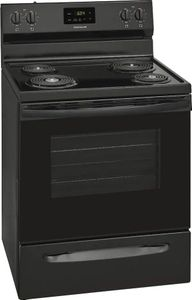 """FCRC3012AB Frigidaire 30"""" Freestanding Electric Range with Hi/Lo Broil Options and Store-More Storage Drawers - Black"""