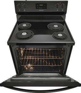"FCRC3012AB Frigidaire 30"" Freestanding Electric Range with Hi/Lo Broil Options and Store-More Storage Drawers - Black"