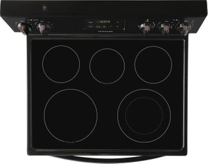 """FCRE3052AB Frigidaire 30"""" Freestanding Electric Range with Quick Boil and Store-More Storage Drawers - Black"""