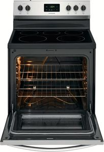 "FCRE3052AS Frigidaire 30"" Freestanding Electric Range with Quick Boil and Store-More Storage Drawers - Stainless Steel"