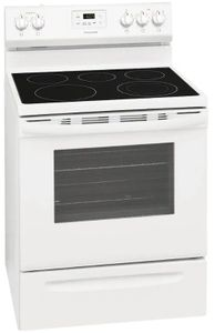 """FCRE3052AW Frigidaire 30"""" Freestanding Electric Range with Quick Boil and Store-More Storage Drawers - White"""