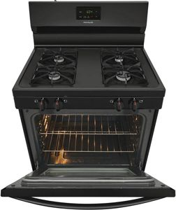 """FCRG3015AB Frigidaire 30"""" Freestanding Gas Range with Store More Storage Drawer and Even Bake Technology - Black"""