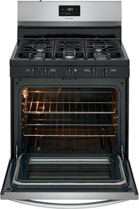 "FCRG3052AS Frigidaire 30"" Freestanding Gas Range with Quick Boil and Sealed Gas Burners - Stainless Steel"