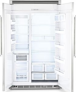 "FDSB5483 Viking 48"" Side by Side Built-in Refrigerator with Quiet Cool - Custom Panel"