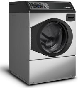 """FF7005SN Speed Queen 27"""" Front Load Front Control Washer with Balance Technology and Durable Stainless Steel Tub - Left Hinge - Stainless Steel"""
