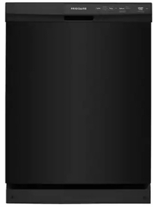 """FFCD2413UB Frigidaire 24"""" Built-In Dishwasher with Heated Drying System and Filtration System - Black"""