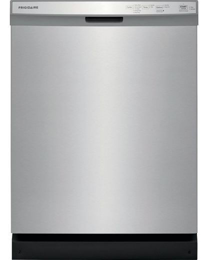"FFCD2418US Frigidaire 24"" Built in Full  Console Dishwasher with 5 Wash Cycles and Hard Food Disposer - Stainless Steel"