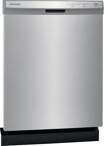 """FFCD2418US Frigidaire 24"""" Built in Full Console Dishwasher with 5 Wash Cycles and Hard Food Disposer - Stainless Steel"""