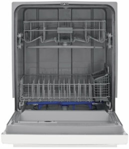 """FFCD2418UW Frigidaire 24"""" Built in Full  Console Dishwasher with 5 Wash Cycles and Hard Food Disposer - White"""