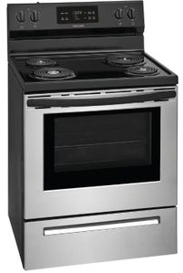 "FFEF3016VS Frigidaire 30"" Freestanding Electric Range with One-Touch Self Clean and StoreMore Storage Drawers - Stainless Steel"
