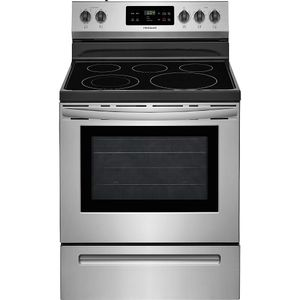 "FFEF3054TS Frigidaire 30"" Freestanding Electric Range with Quick Boil and Store-More Storage Drawers - Stainless Steel"