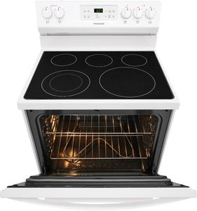 """FFEF3054TW Frigidaire 30"""" Freestanding Electric Range with Quick Boil and Store-More Storage Drawers - White"""