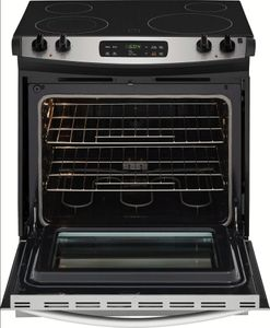 "FFES3026TS Frigidaire 30"" 4.6 Cu. Ft. Slide-In Range with Self Cleaning Mode and Electronic Kitchen Timer - Stainless Steel"