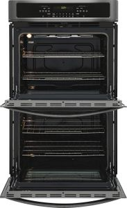 """FFET3026TD Frigidaire 30""""  Built-In Electric Double Wall Oven with Self-Cleaning and Even Baking Technology - Black Stainless Steel"""