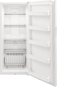 "FFFU16F2VW Frigidaire 28"" 15.5 Cu. Ft. All Freezer with Even Temp Cooling System and Door Ajar Alarm - White"