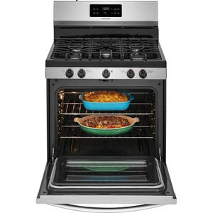 """FFGF3054TS Frigidaire 30"""" Freestanding Gas Range with Quick Boil and Sealed Gas Burners - Stainless Steel"""