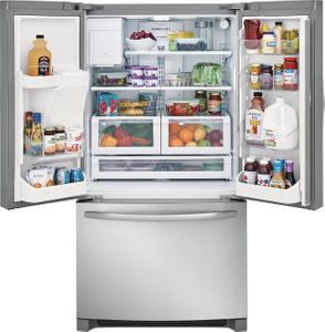 """FFHD2250TS Frigidaire 36"""" 22.7 Cu. Ft. Counter Depth French Door Refrigerator with Store-More Shelves and PureSource Ultra II Water Filtration - Stainless Steel"""