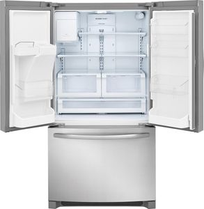 """FFHD2250TS Frigidaire 36"""" 21.7 Cu. Ft. Counter Depth French Door Refrigerator with Store-More Shelves and PureSource Ultra II Water Filtration - Stainless Steel"""