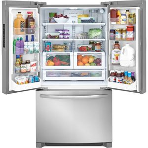 "FFHN2750TS Frigidaire 36"" French Door 27.6 Cu. Ft. Refrigerator with Store-More Shelves and PureSource Ultra II Water Filtration - Stainless Steel"