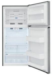"""FFHT1425VV Frigidaire 30"""" 13.9 Cu. Ft. Top Freezer Refrigerator with Humidity-Controlled Crisper Drawers and Flexible Interior Storage System - Brushed Steel"""