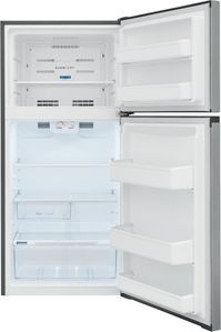 "FFHT1425VV Frigidaire 30"" 13.9 Cu. Ft. Top Freezer Refrigerator with Humidity-Controlled Crisper Drawers and Flexible Interior Storage System - Brushed Steel"