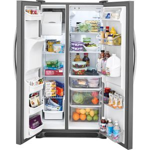 FFSS2615TS Frigidaire Side-by-Side 25.6 Cu. Ft. Refrigerator with Ready-Select Controls and Pure Source 3 - Stainless Steel