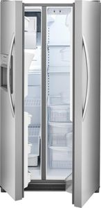 """FFSS2315TS Frigidaire 33"""" 22.1 Cu.Ft Side by Side Refrigerator with Ready-Select Controls and Store-More Capacity - Stainless Steel"""