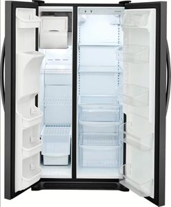 FFSS2615TD Frigidaire Side-by-Side 25.6 Cu. Ft. Refrigerator with Ready-Select Controls and Pure Source 3 - Black Stainless Steel
