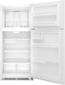 """FFTR1821TW Frigidaire 30"""" 18 Cu. Ft. Top Mount Refrigerator with Store-More Gallon Door Shelf and Clear Dairy Bin - White"""