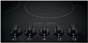 """FGEC3648UB Frigidaire Gallery 36"""" Electric Cooktop with Ceramic Glass and Hot Surface Indicators - Black"""