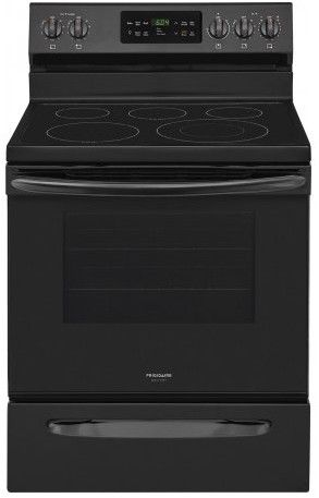 Fgef3036tb Frigidaire 30 Gallery Series Freestanding Electric Range With Steam Cleaning And Quick Bake Convection Black