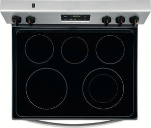 "FGEF3036TD Frigidaire Gallery 30"" Freestanding Electric Range with Quick Bake Convection and Quick Boil - Black Stainless Steel"