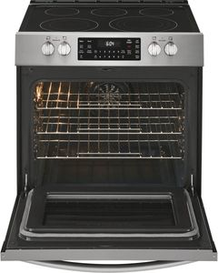 FGEH3047VF Frigidaire 30'' Electric Front Control Freestanding Range with True Convection and Air Fry - Smudge Proof  Stainless Steel