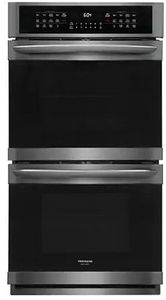 "FGET2766UD Frigidaire  27"" Gallery Series Electric Double Wall Oven with Ready-Select Controls and Self-Cleaning - Smudge Proof Black Stainless Steel"